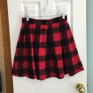 Honey Punch gingham full mini skirt